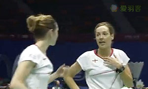莉娜/赫斯波VS加布里/奥利弗 2015苏迪曼杯 女双资格赛视频