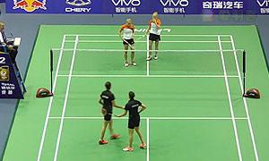 穆斯肯斯/皮克VS克拉拉/马琳 2015苏迪曼杯 女双资格赛视频