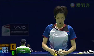 张雁宜VS安妮 2015苏迪曼杯 女单资格赛视频