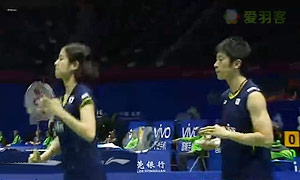 科丁/蒂格森VS数野健太/栗原文音 2015苏迪曼杯 混双1/4决赛视频