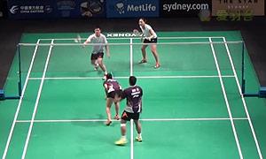 陈润龙/谢影雪VS基多/皮娅 2015澳洲公开赛 混双资格赛视频