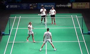 爱德考克/加布里VS萨万/塞蒂亚娜 2015澳洲公开赛 混双资格赛视频