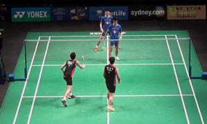 高成炫/申白喆VS蔡赟/康骏 2015澳洲公开赛 男双1/8决赛视频