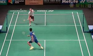 王睁茗VS利弗德斯 2015澳洲公开赛 男单1/8决赛视频