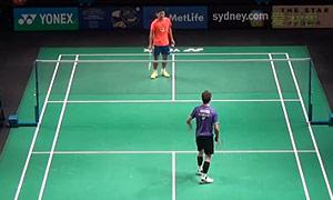 约根森VS王睁茗 2015澳洲公开赛 男单1/4决赛视频