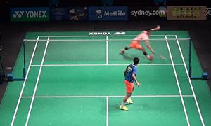 谌龙VS田厚威 2015澳洲公开赛 男单半决赛视频