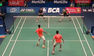 李胜木/蔡佳欣VS埃特里/雷迪 2015印尼公开赛 男双1/16决赛视频
