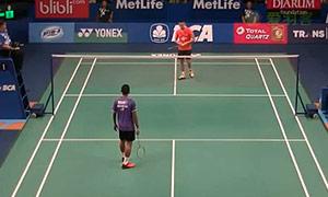 苏吉亚托VS林丹 2015印尼公开赛 男单1/16决赛视频