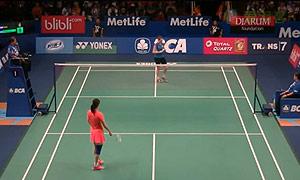 李雪芮VS吉尔莫 2015印尼公开赛 女单1/16决赛视频