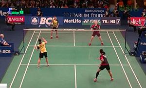 李绍希/申升瓒VS谢沛蓁/吴玓蓉 2015印尼公开赛 女双1/16决赛视频