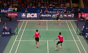 普缇塔/沙西丽VS黛安/美拉提 2015印尼公开赛 女双1/16决赛视频