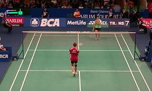 菲比VS鲁塞莉 2015印尼公开赛 女单1/16决赛视频