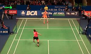 王适娴VS裴延姝 2015印尼公开赛 女单1/8决赛视频