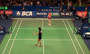 桥本由衣VS三谷美菜津 2015印尼公开赛 女单1/8决赛视频