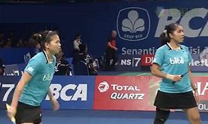 尼蒂娅/波莉VS普缇塔/沙西丽 2015印尼公开赛 女双1/8决赛视频