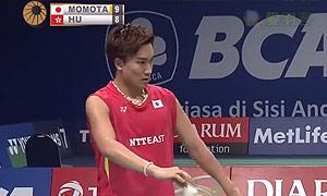 桃田贤斗VS胡赟 2015印尼公开赛 男单1/8决赛视频