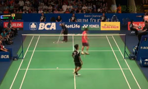 桃田贤斗VS金廷 2015印尼公开赛 男单1/4决赛视频