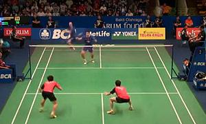 李龙大/柳延星VS柴飚/洪炜 2015印尼公开赛 男双1/4决赛视频