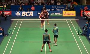 高成炫/申白喆VS瓦赫尤那亚卡/尤苏夫 2015印尼公开赛 男双1/4决赛视频