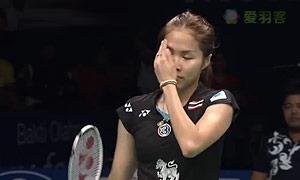 因达农VS王适娴 2015印尼公开赛 女单半决赛视频