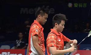 张楠/赵芸蕾VS艾哈迈德/纳西尔 2015印尼公开赛 混双半决赛视频