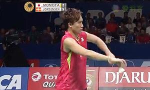 桃田贤斗VS约根森 2015印尼公开赛 男单决赛视频