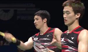 高成炫/申白喆VS傅海峰/张楠 2015印尼公开赛 男双决赛视频