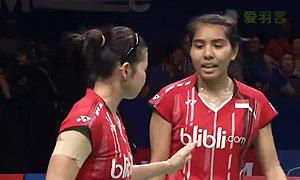 汤金华/田卿VS尼蒂娅/波莉 2015印尼公开赛 女双决赛视频