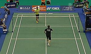 林丹VS科尔乔宁 2015台北公开赛 男单资格赛视频