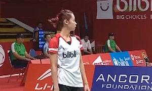 菲比VS白驭珀 2015羽毛球世锦赛 女单资格赛视频