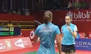 哈纳迪亚/佩马塔萨里VS格里斯威斯基/尼尔特 2015羽毛球世锦赛 女双资格赛视频
