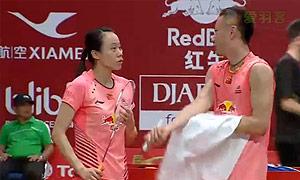 张楠/赵芸蕾VS查伦/菲莉斯 2015羽毛球世锦赛 混双1/16决赛视频