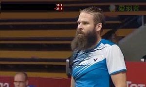 孙完虎VS朗 2015羽毛球世锦赛 男单资格赛视频