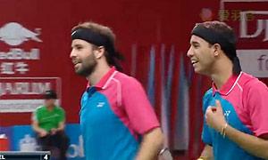 迪耶克斯/戈林斯基VS库巴/德尔瓦尔 2015羽毛球世锦赛 男双资格赛视频