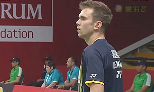 约根森VS卢迪克 2015羽毛球世锦赛 男单1/16决赛视频