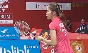 法内特里VS因达农 2015羽毛球世锦赛 女单1/8决赛视频