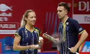 爱德考克/加布里VS科丁/尤尔 2015羽毛球世锦赛 混双1/8决赛视频