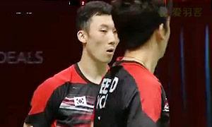 李龙大/柳延星VS张楠/傅海峰 2015羽毛球世锦赛 男双1/4决赛视频
