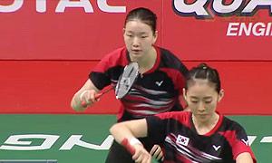 佩蒂森/尤尔VS高雅罗/柳海媛 2015羽毛球世锦赛 女双1/4决赛视频