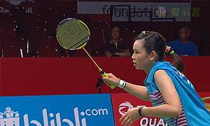 法内特里VS戴资颖 2015羽毛球世锦赛 女单1/4决赛视频