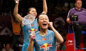 田卿/赵芸蕾VS佩蒂森/尤尔 2015羽毛球世锦赛 女双决赛视频