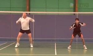 双打正手网前挑球步法