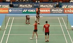 爱德考克/加布里VS申白喆/蔡侑玎 2015日本公开赛 混双1/16决赛视频