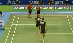 尼尔森/佩蒂森VS古贺辉/米元小春 2015日本公开赛 混双1/16决赛视频
