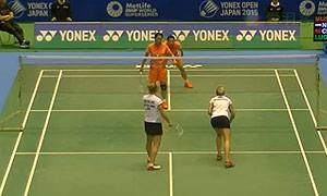 骆赢/骆羽VS穆斯肯斯/皮克 2015日本公开赛 女双1/8决赛视频