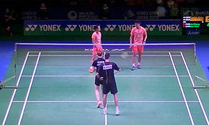 尼尔森/佩蒂森VS刘成/包宜鑫 2015日本公开赛 混双1/4决赛视频