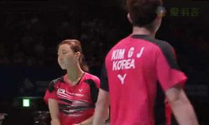 尼尔森/佩蒂森VS金基正/申升瓒 2015日本公开赛 混双半决赛视频