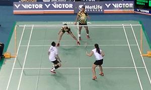 陈润龙/谢影雪VS苏巴蒂亚/维德佳佳 2015韩国公开赛 混双1/16决赛视频