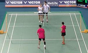 爱德考克/加布里VS陈润龙/谢影雪 2015韩国公开赛 混双1/8决赛视频