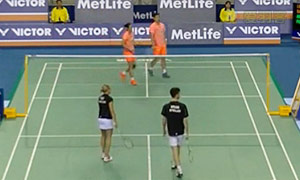 刘成/包宜鑫VS阿伦茨/皮克 2015韩国公开赛 混双1/8决赛视频
